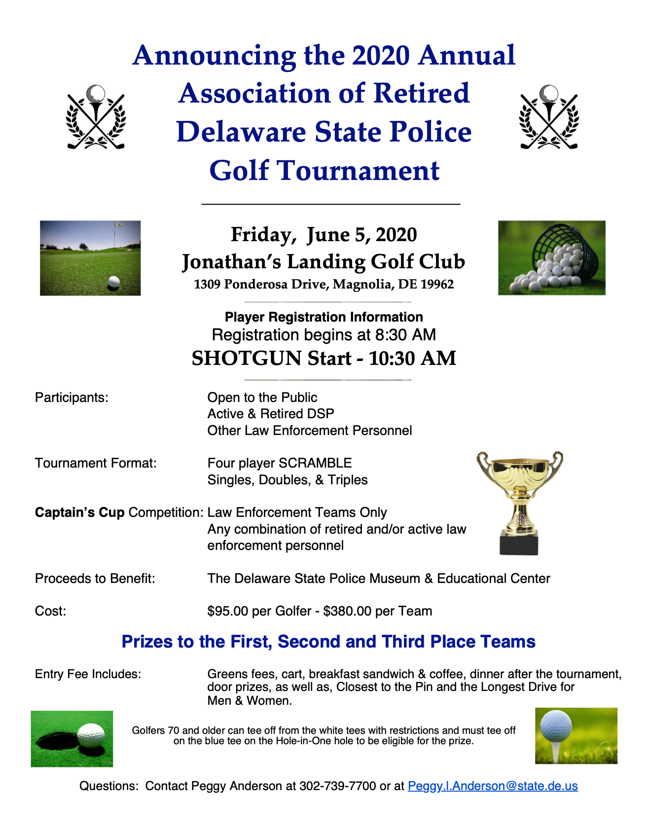 Delaware State Police Museum Golf Tournament 2019