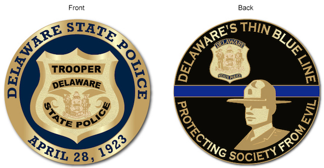 Delaware State Police 2017 Challenge Coin