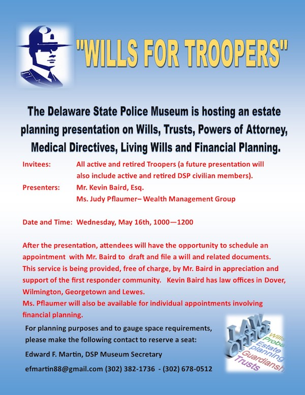 Delaware State Police Wills for Troopers Seminar