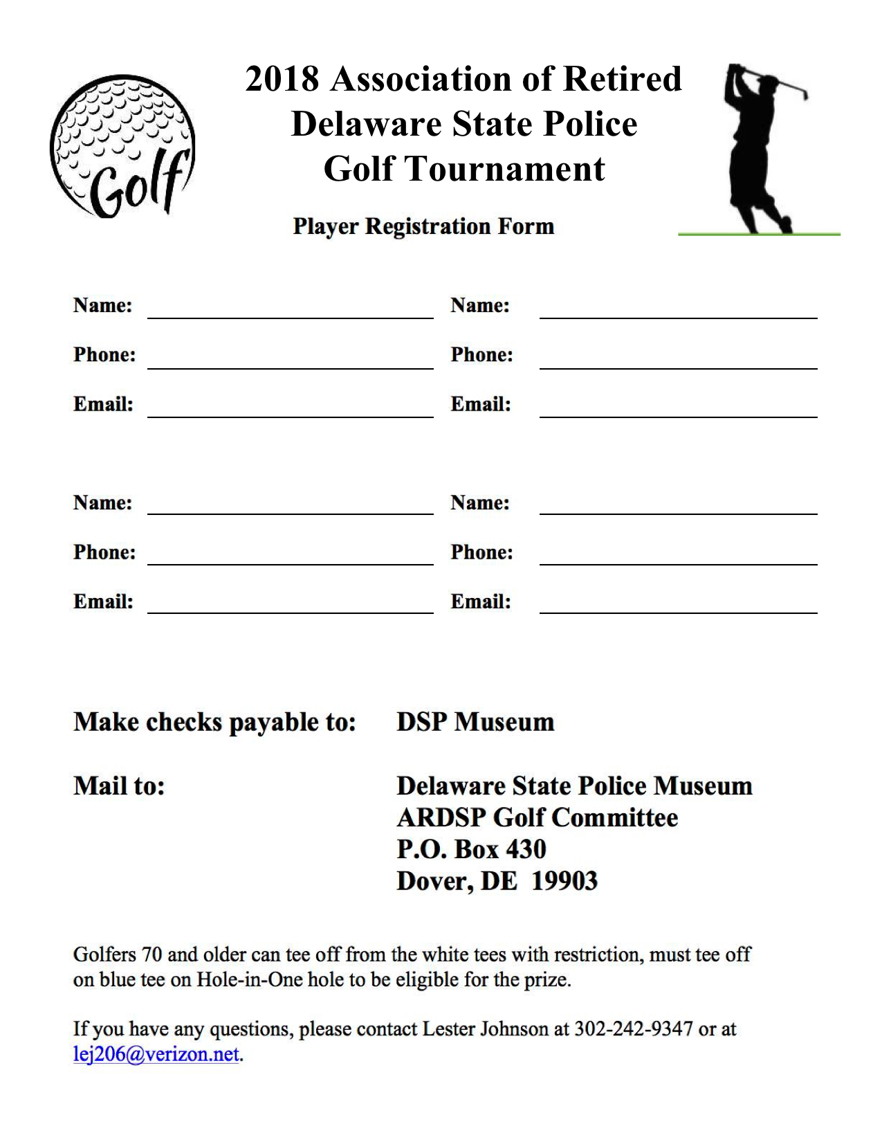Delaware State Police Museum & Education Center Golf Tournament