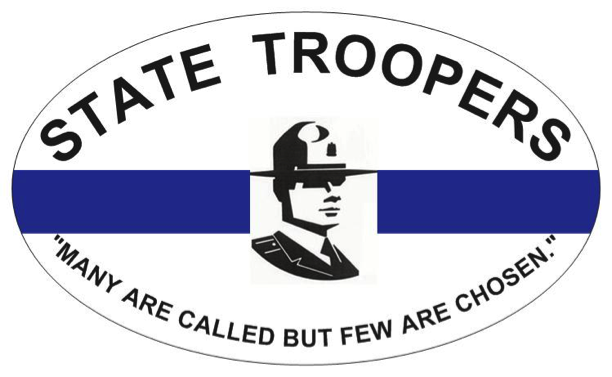 State troopers a part of the thin blue line 3x5 car stickers