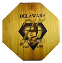 Delaware State Police 75th Anniversary Basket Lid