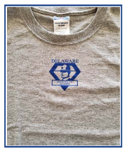 Delaware State Police Museum logo child's T-Shirt - color - gray